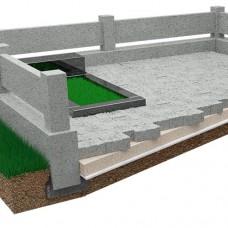 Accomplishment of granite paving stones